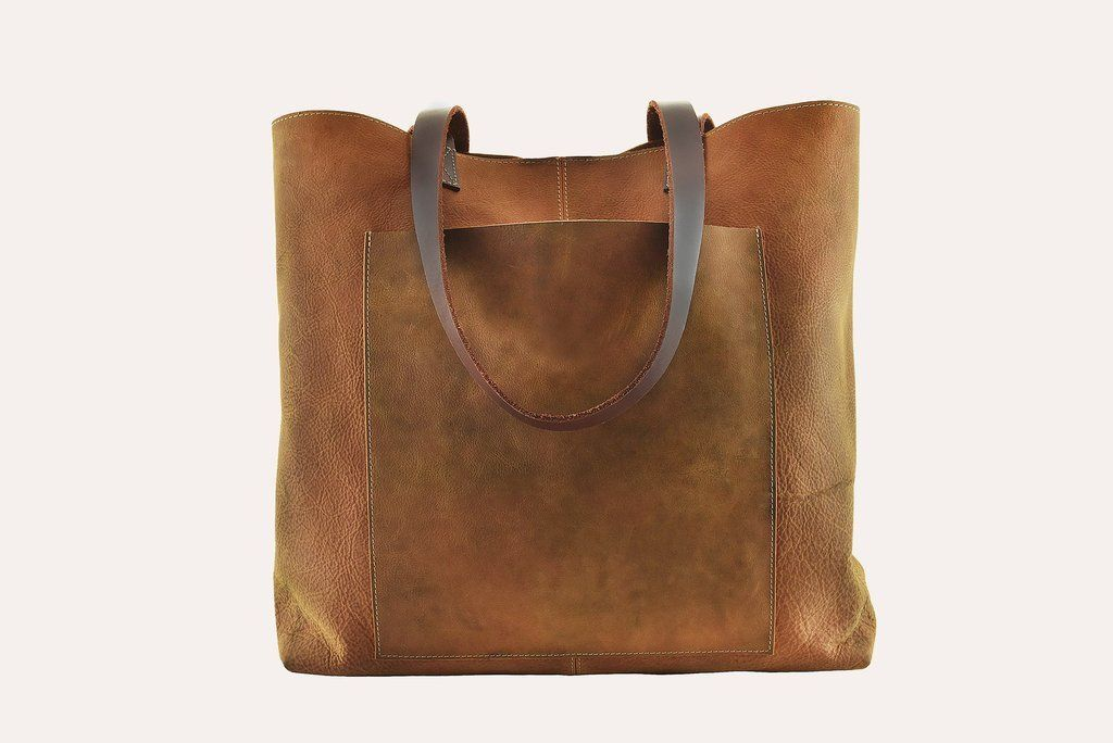 Pacific Coast Highway Genuine Leather Brown Tote Tote