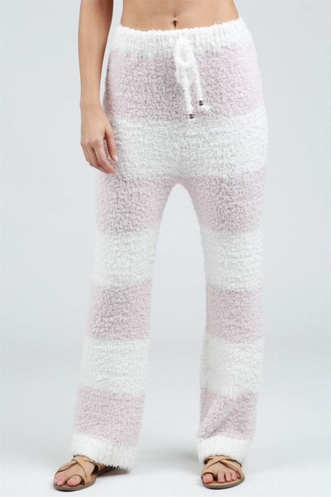 Pol Striped Berber Fleece Cozywear Sweatpants Sweatpants
