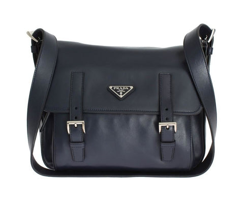 Prada Black Leather Satchel Handbag