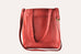 Genuine Leather Journalist Tote Red Tote