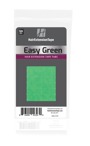 Easy Green Hair Extension Tape Tabs