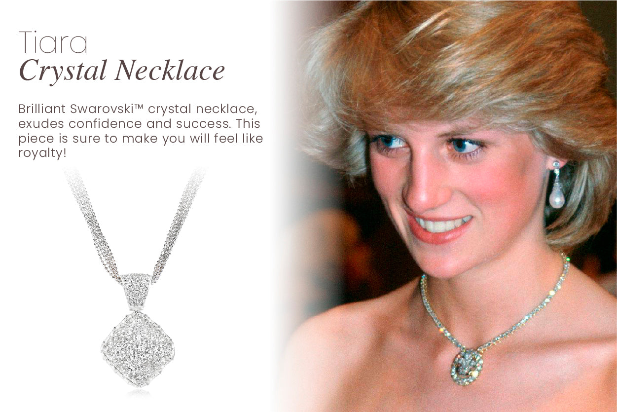 Brilliant Swarovski™ crystal necklace, exudes confidence and success. This piece is sure to make you will feel like royalty!