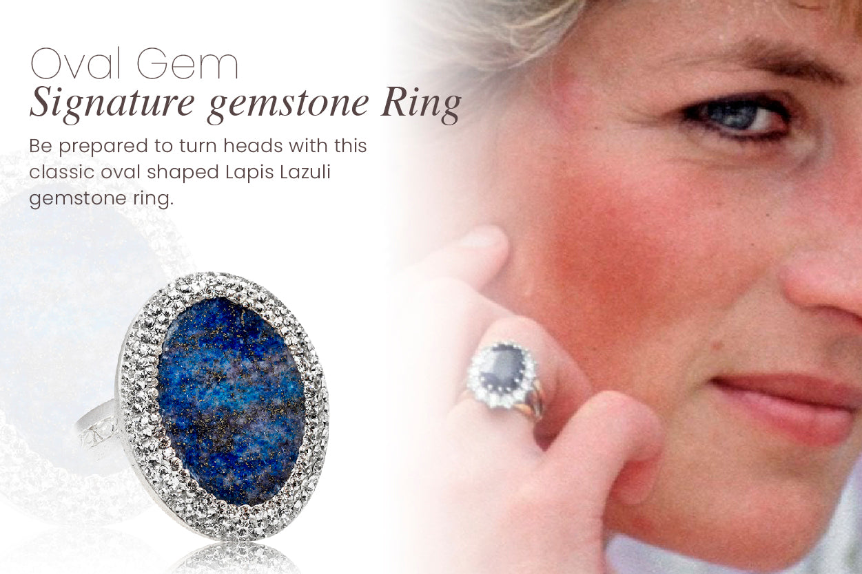 Be prepared to turn heads with this classic oval shaped LL gemstone ring.