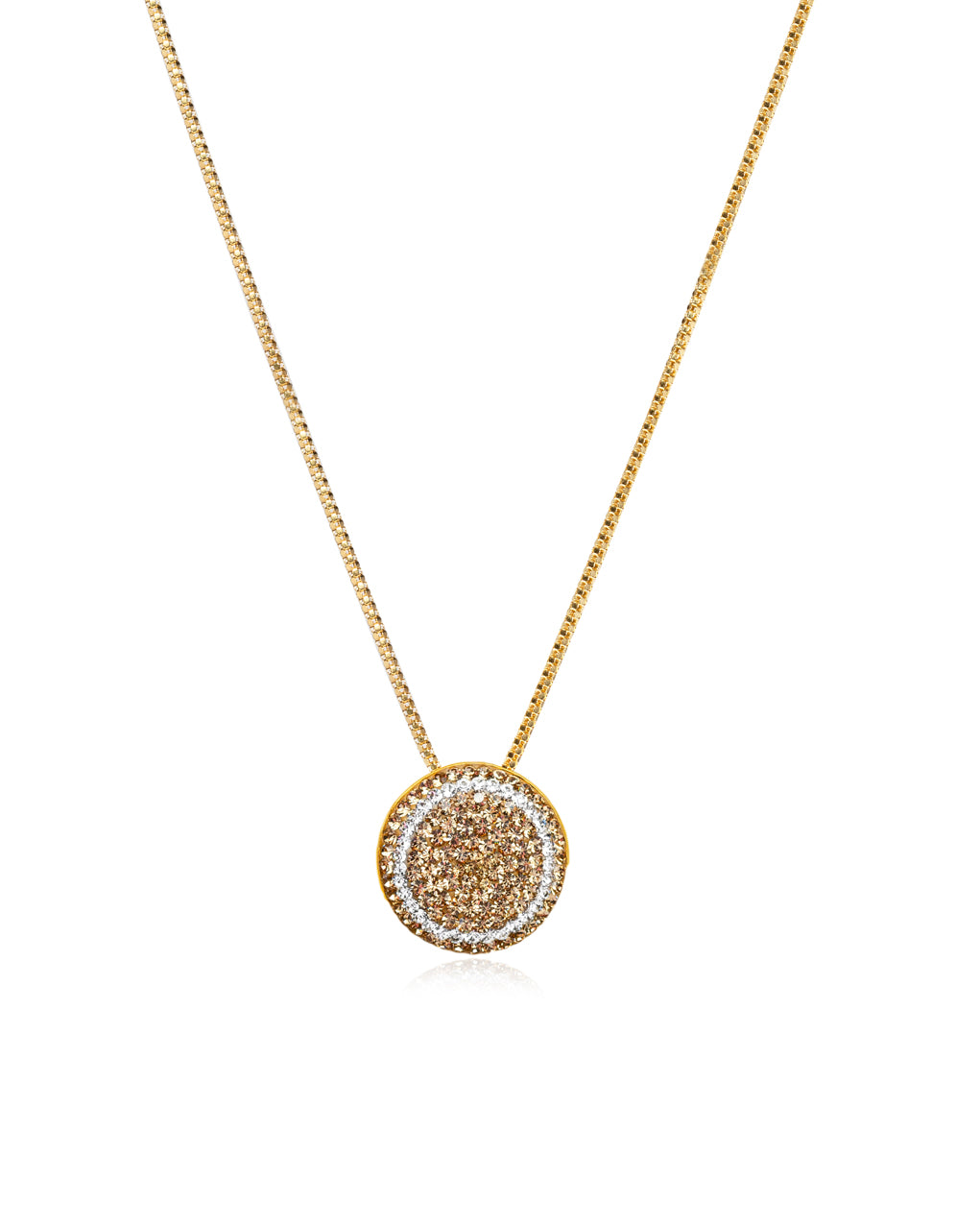 Crystal Petite Round N Gold, Crystal & Gold