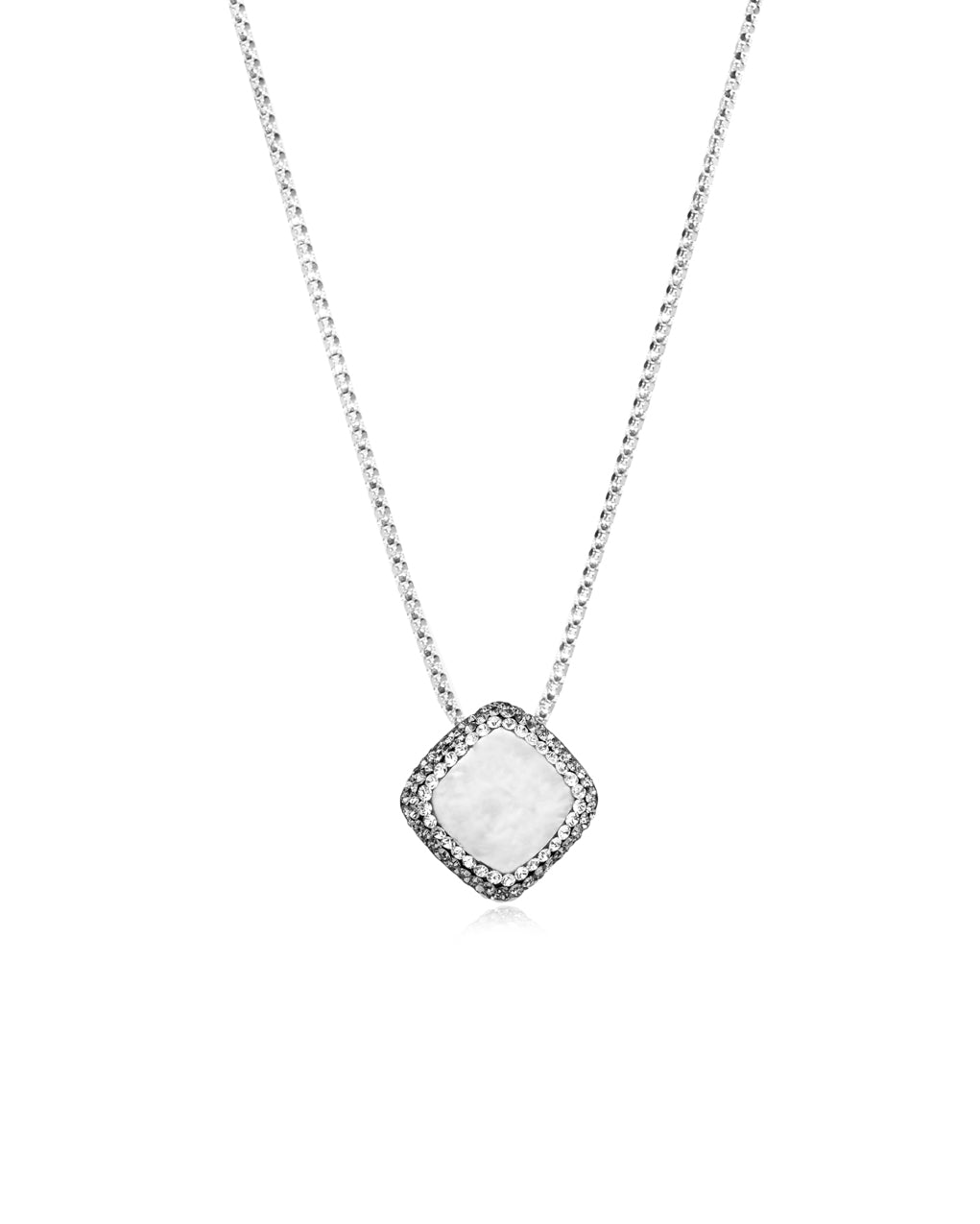 Dainty Diagonal Gem Necklace