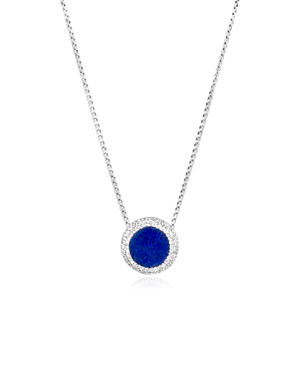 Petite Round Gem Necklace