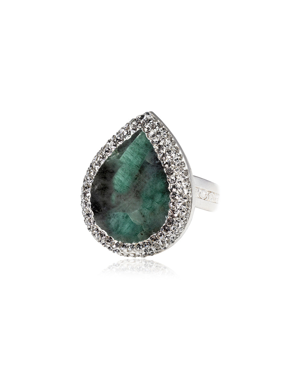 Tear Gem Signature Ring