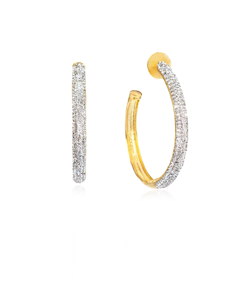 Crystal Hoops Crystal & Gold