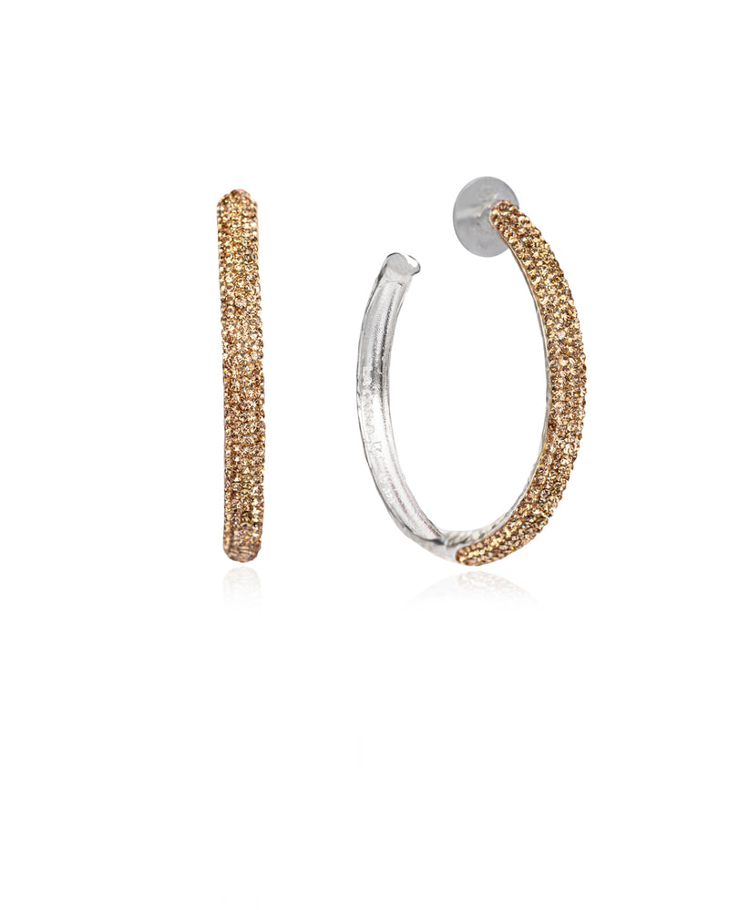 Crystal Hoops Gold & Silver