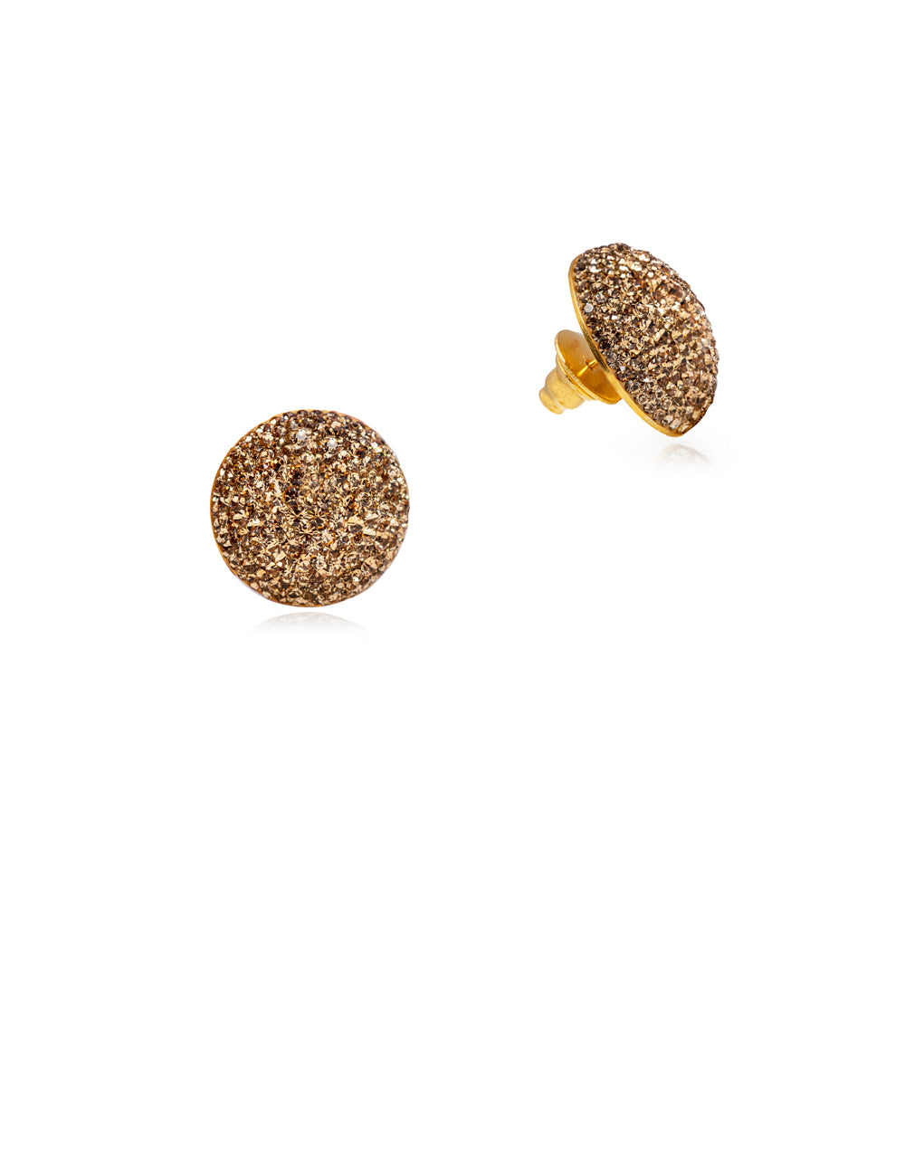 Crystal Grand Studs All Gold & Gold