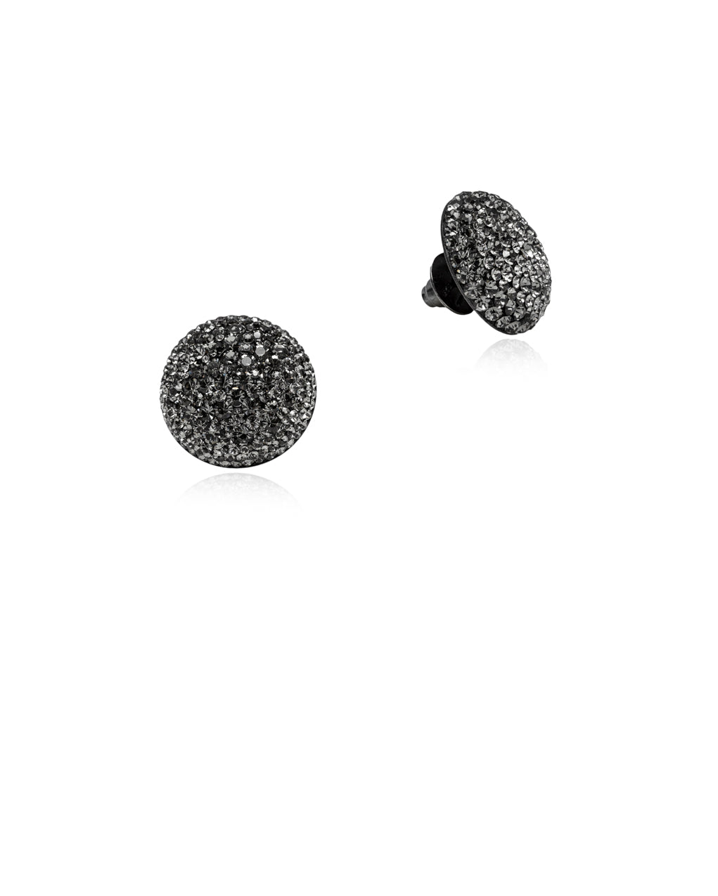 Crystal Grand Studs All Black Diamond & Black Rhodium