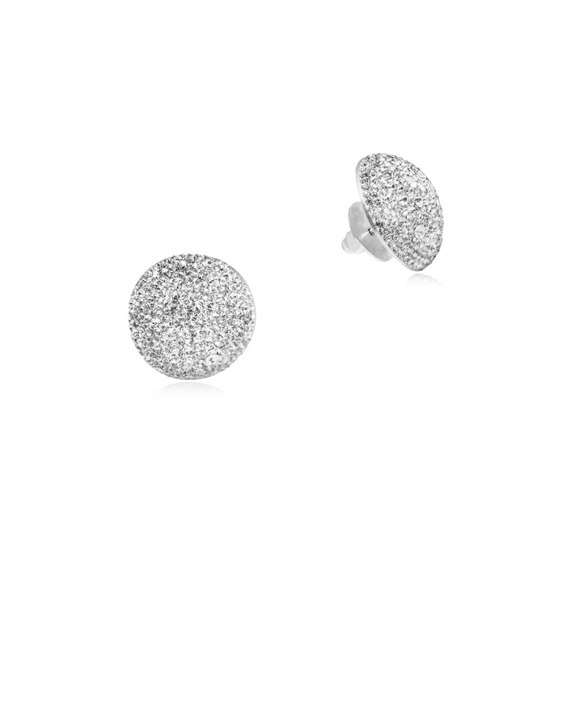 Crystal Grand Studs All Crystal & Silver