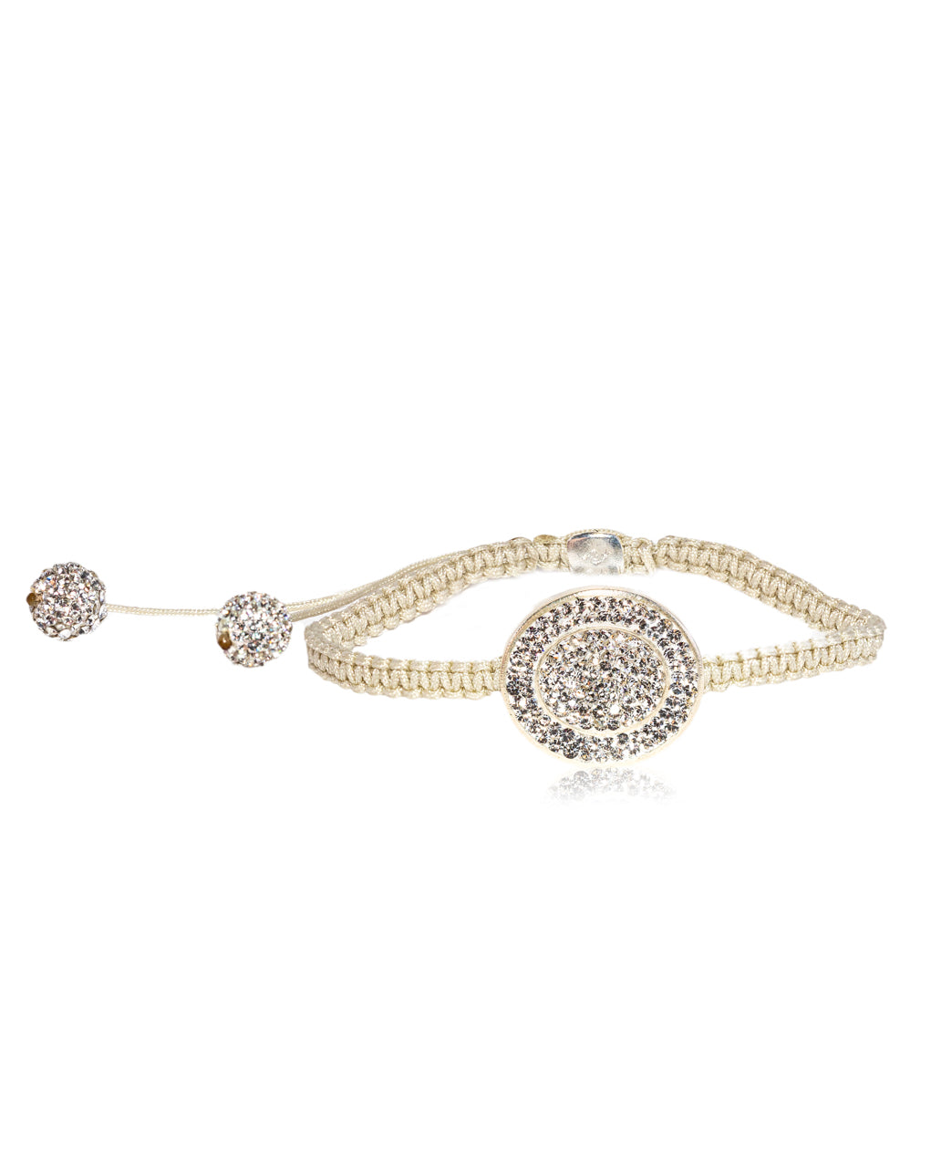 Oval Halo Crystal Shamballa