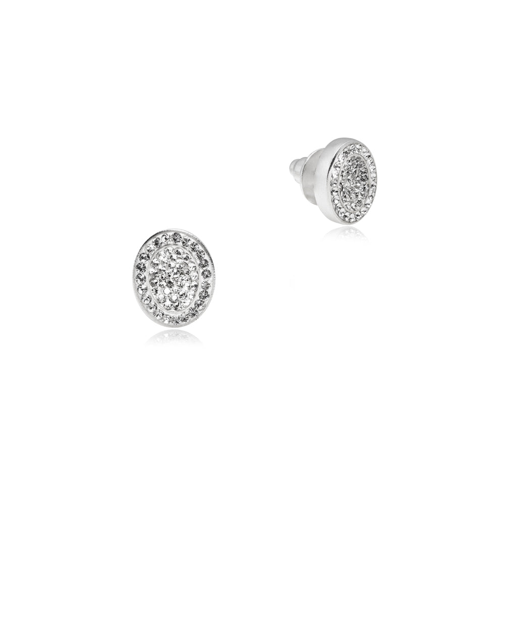 Halo Oval Crystal Studs