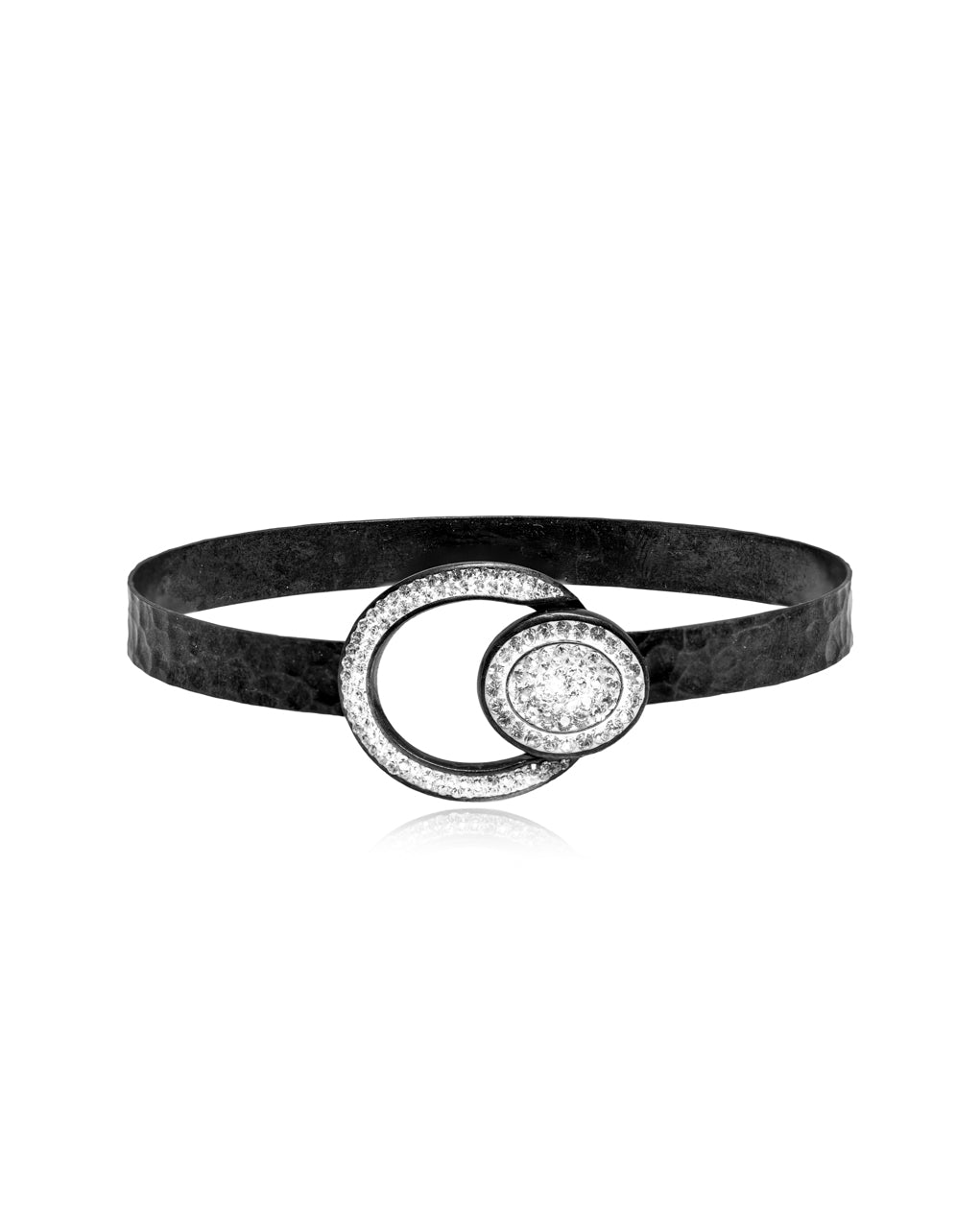 Oval Halo Crystal Bangle