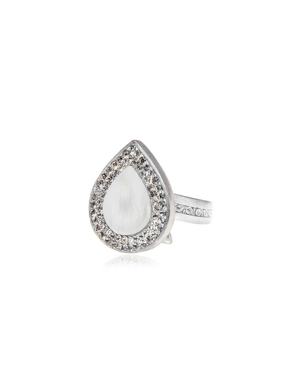 Halo Petite Tear Gem Ring