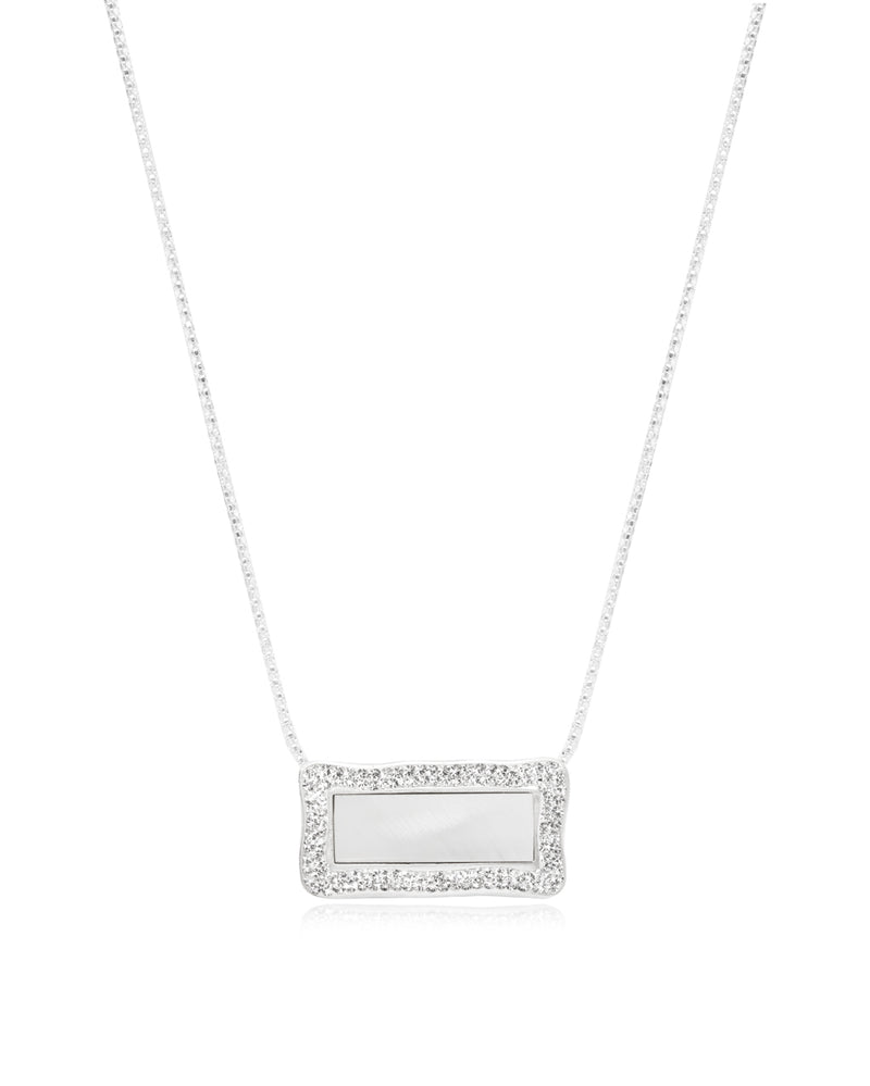 Convertible Rectangle Gem Necklace