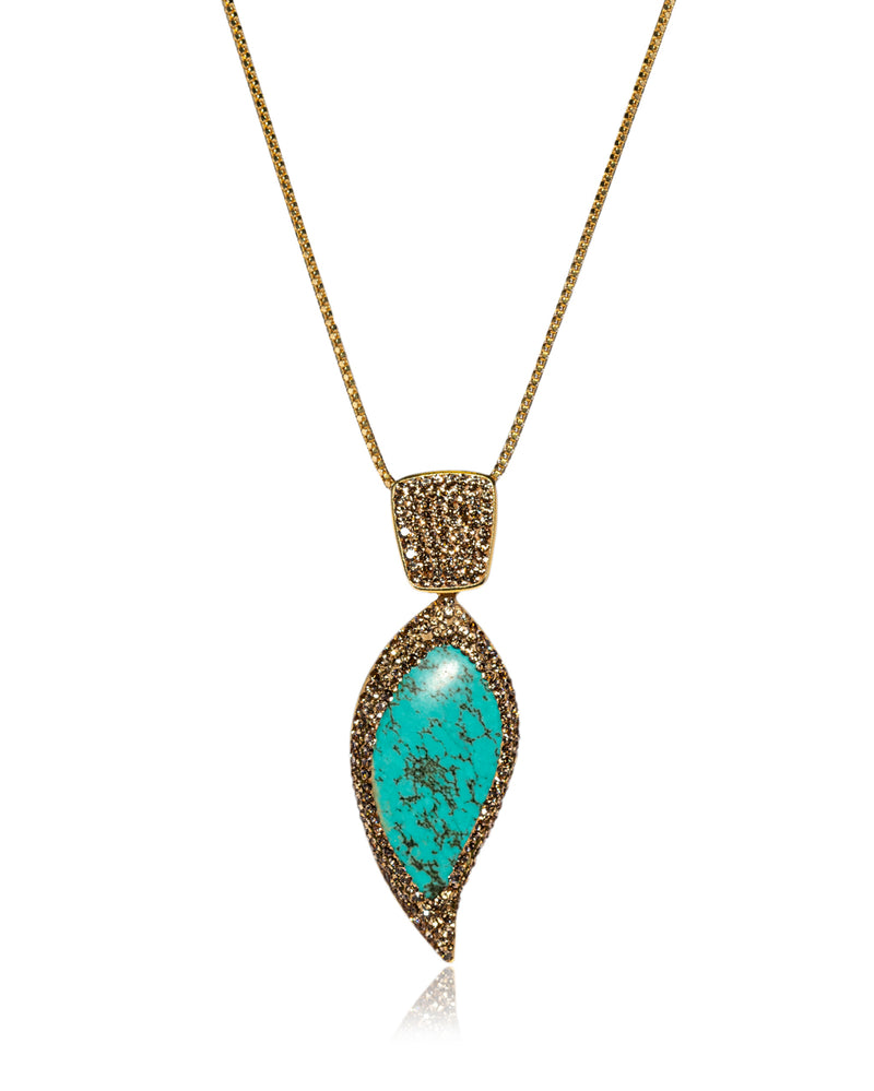 Endless Leaf N Persian Turquoise, Gold & Gold