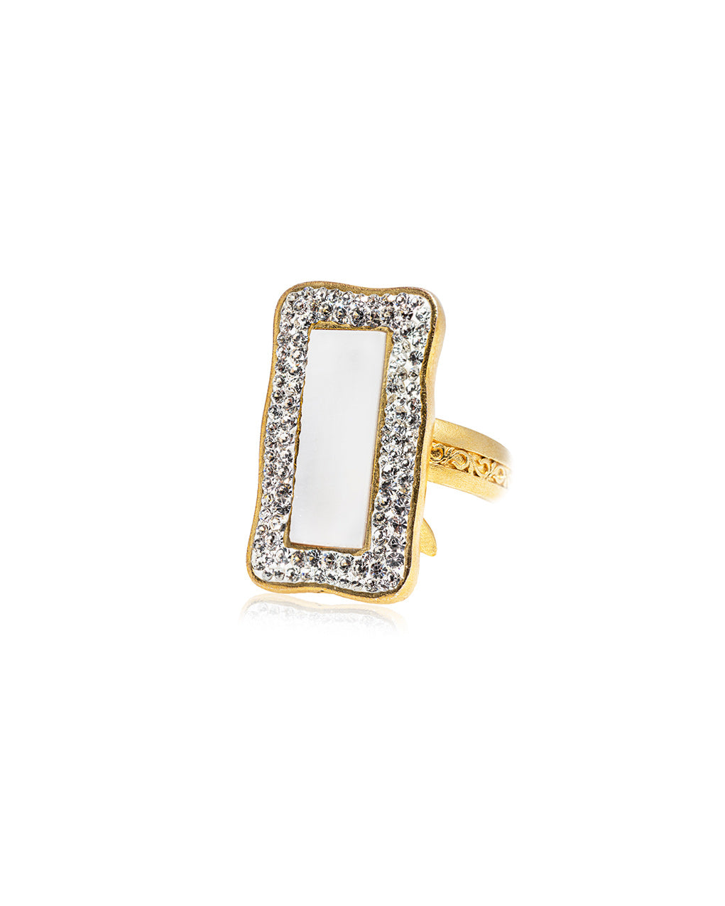 Rectangle Gem Ring