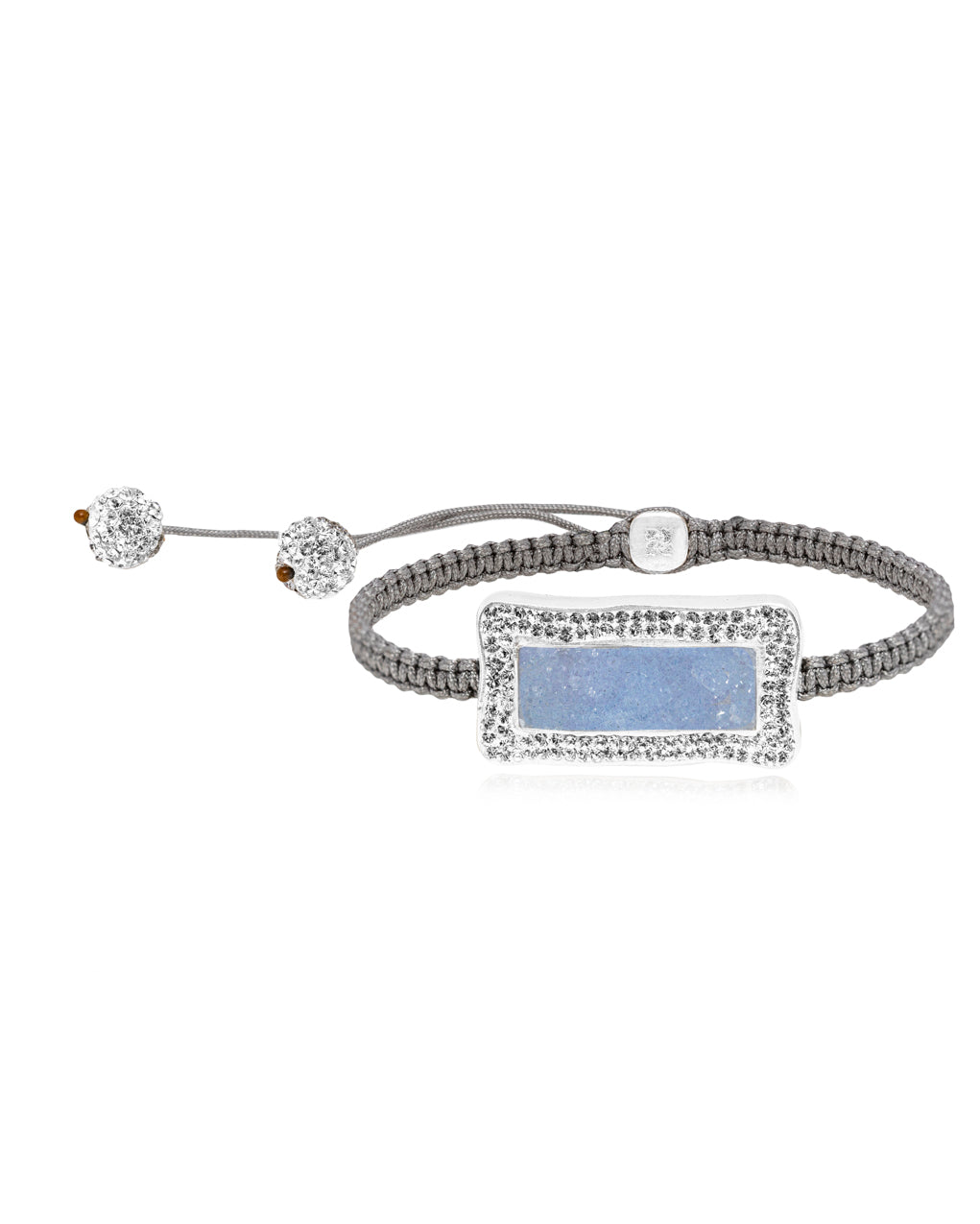 Rectangle Gem Shamballa Bracelet