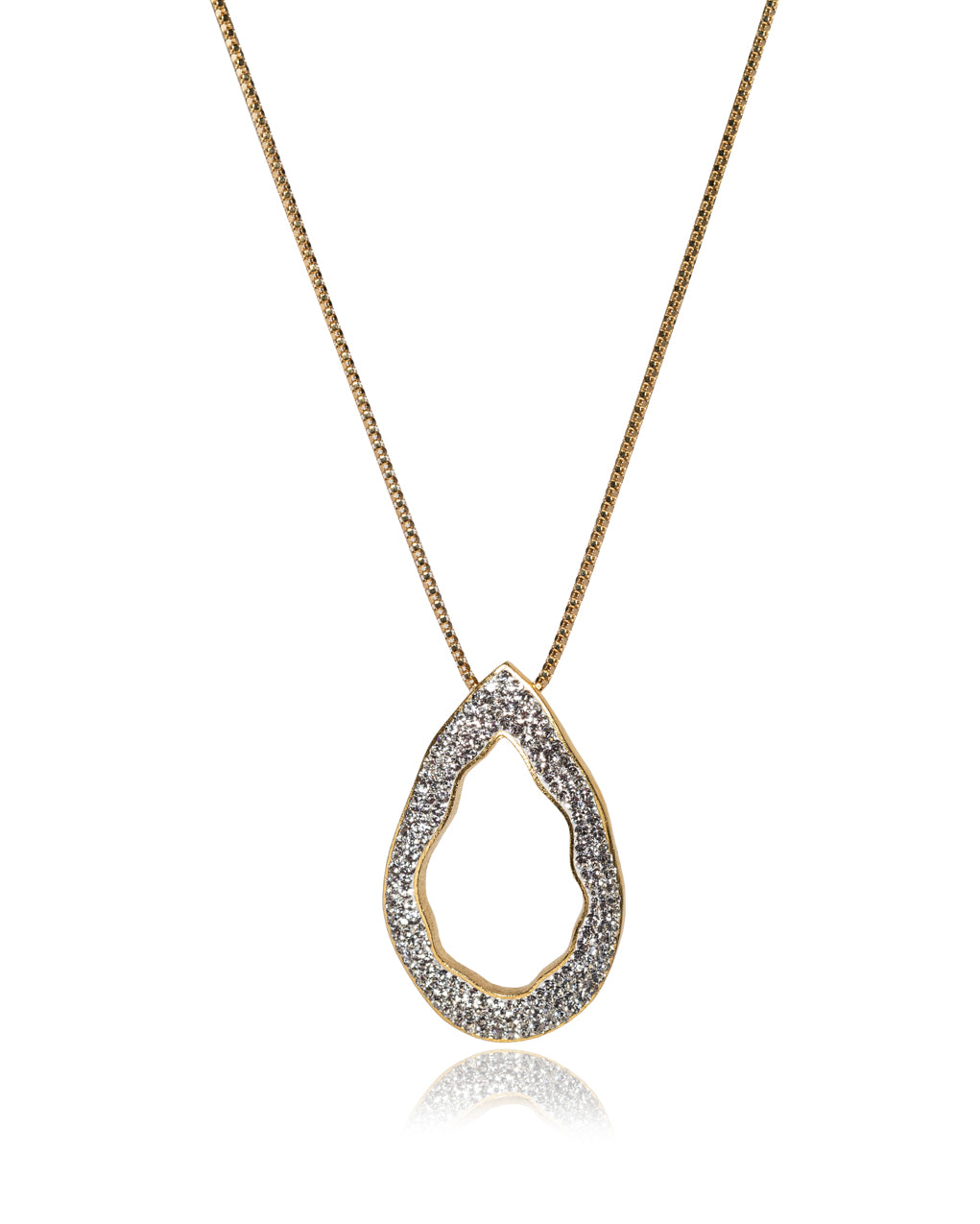 Convertible Open Tear N Crystal & Gold