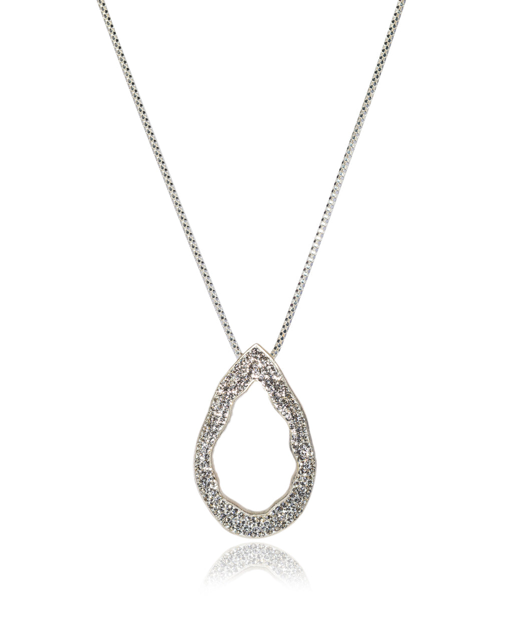 Convertible Open Tear N Crystal & Silver