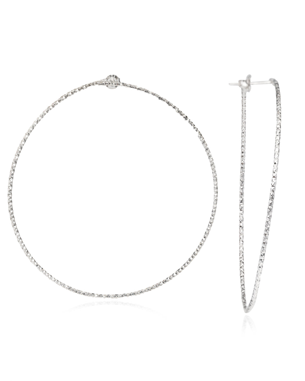 Diamond Cut Hoops silver