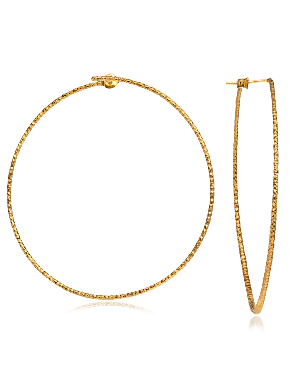 Diamond Cut Hoops gold