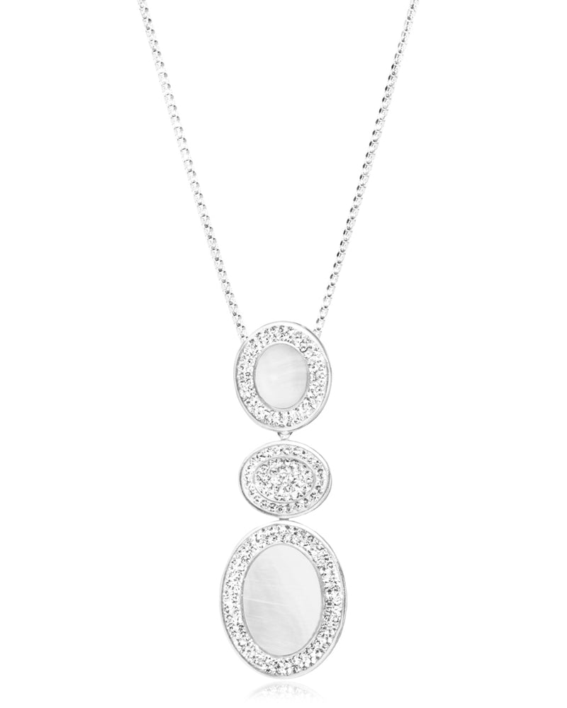 2Way Gem Cascade N Mother of Pearl, Crystal, Silver