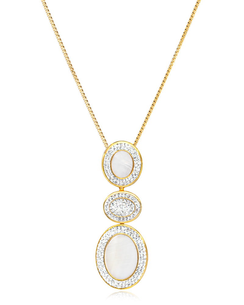 2Way Gem Cascade N Mother of Pearl, Crystal, Gold