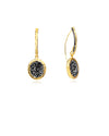 Dainty Stud & Oval Gem Drop Earrings
