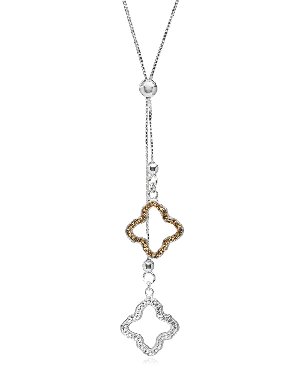 Dainty Flower Lariat Necklace