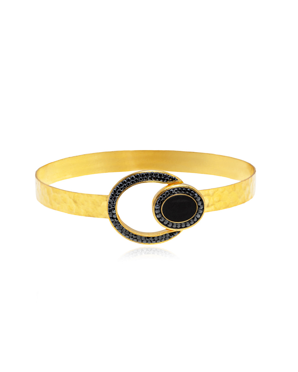 Oval Gem Bangle Bracelet