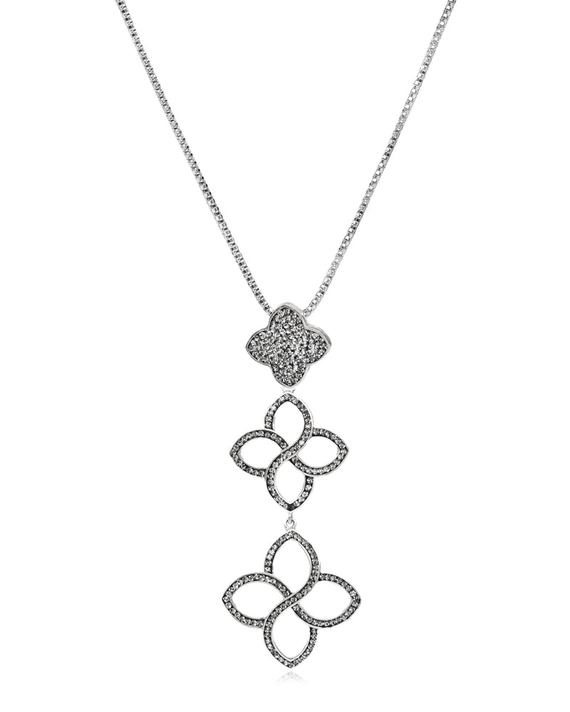 Flower Cascade Pendant Necklace
