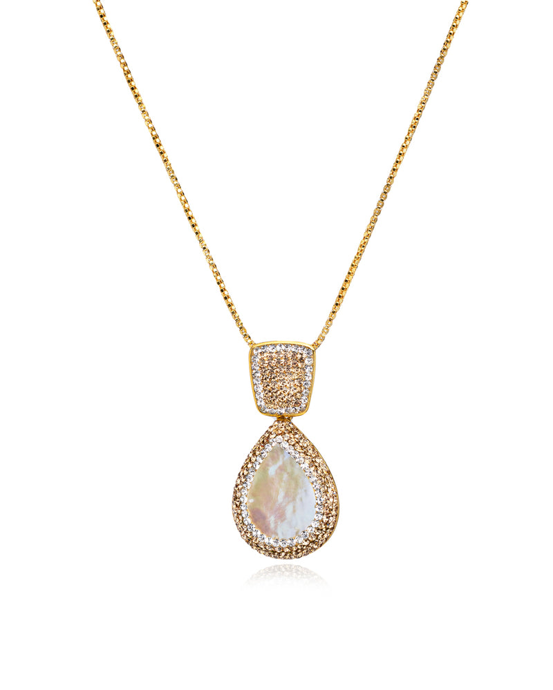 Endless Signature Tear N Baroque Pearl, Gold & Gold