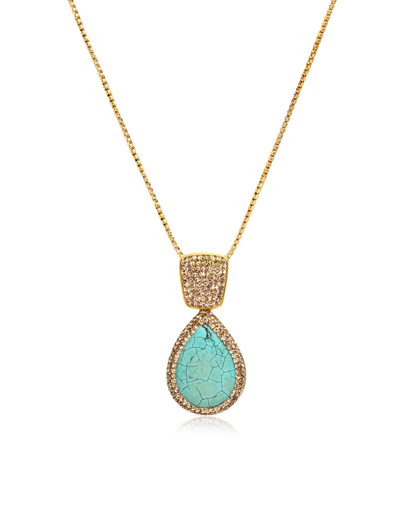 Endless Signature Tear N Persian Turquoise, Gold & Gold