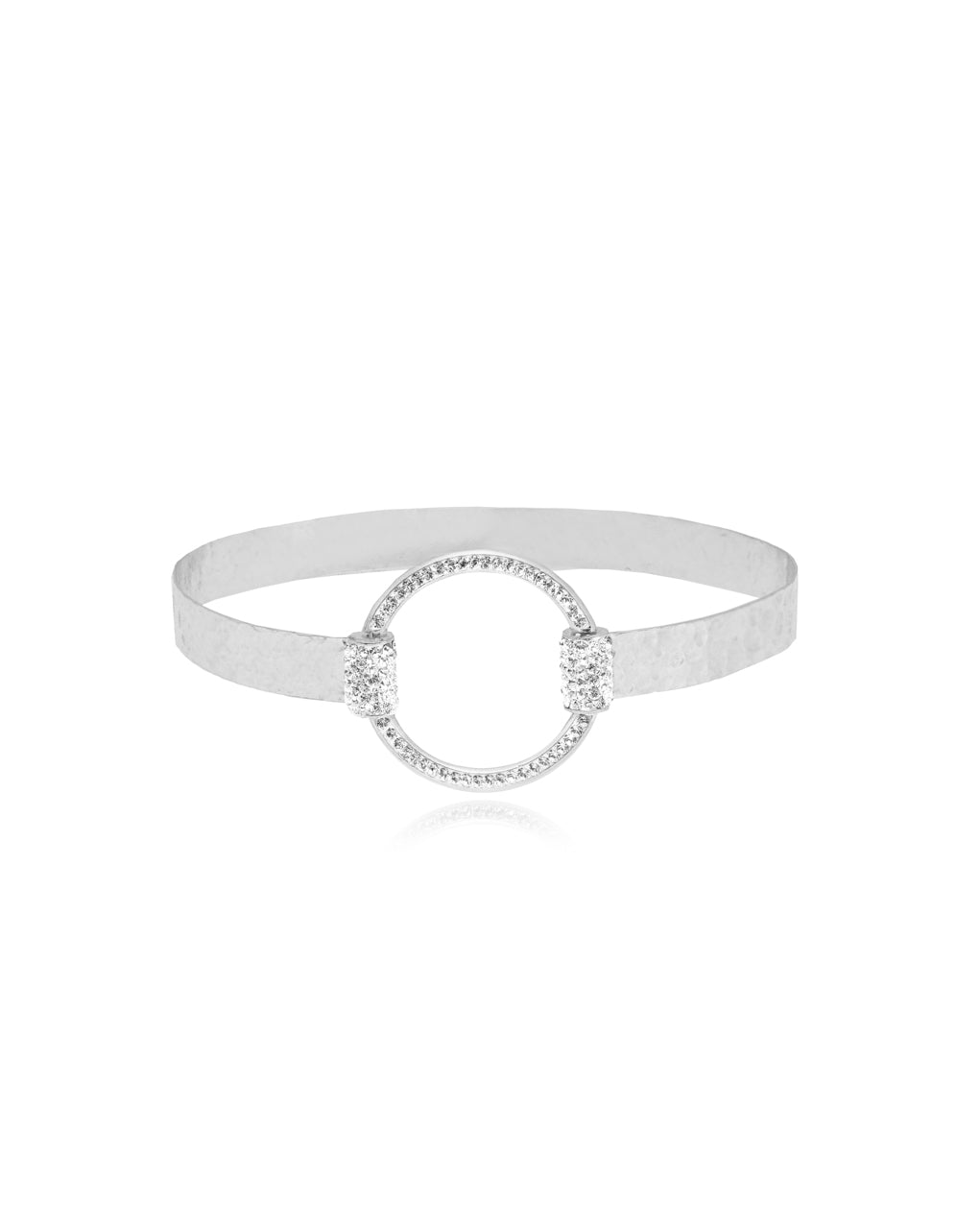 Eternity Bangle Crystal & Silver