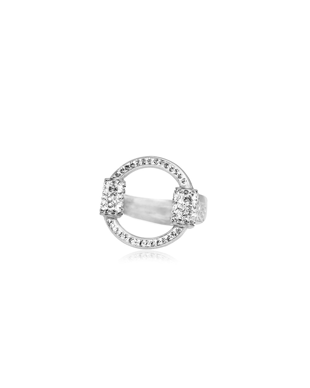Eternity Ring Crystal & Silver