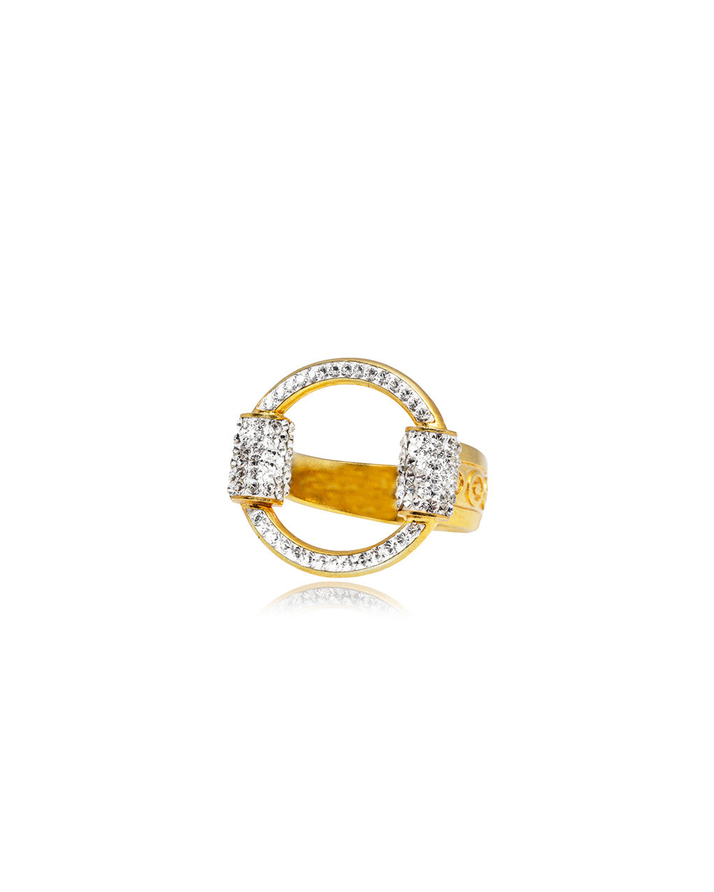 Eternity Ring Crystal & Gold