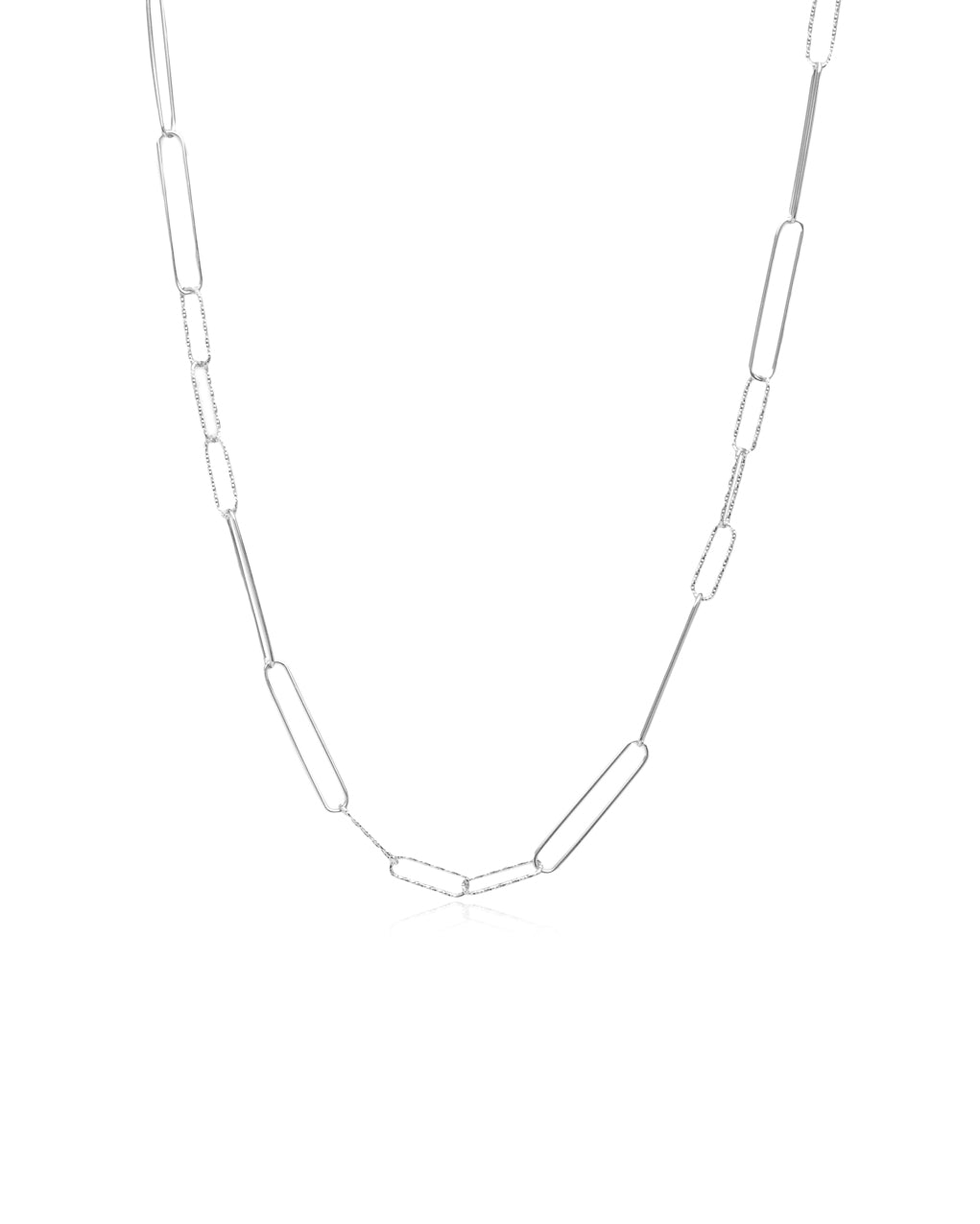 "43"" Adjustable Diamond-Cut Charm Link Chain"