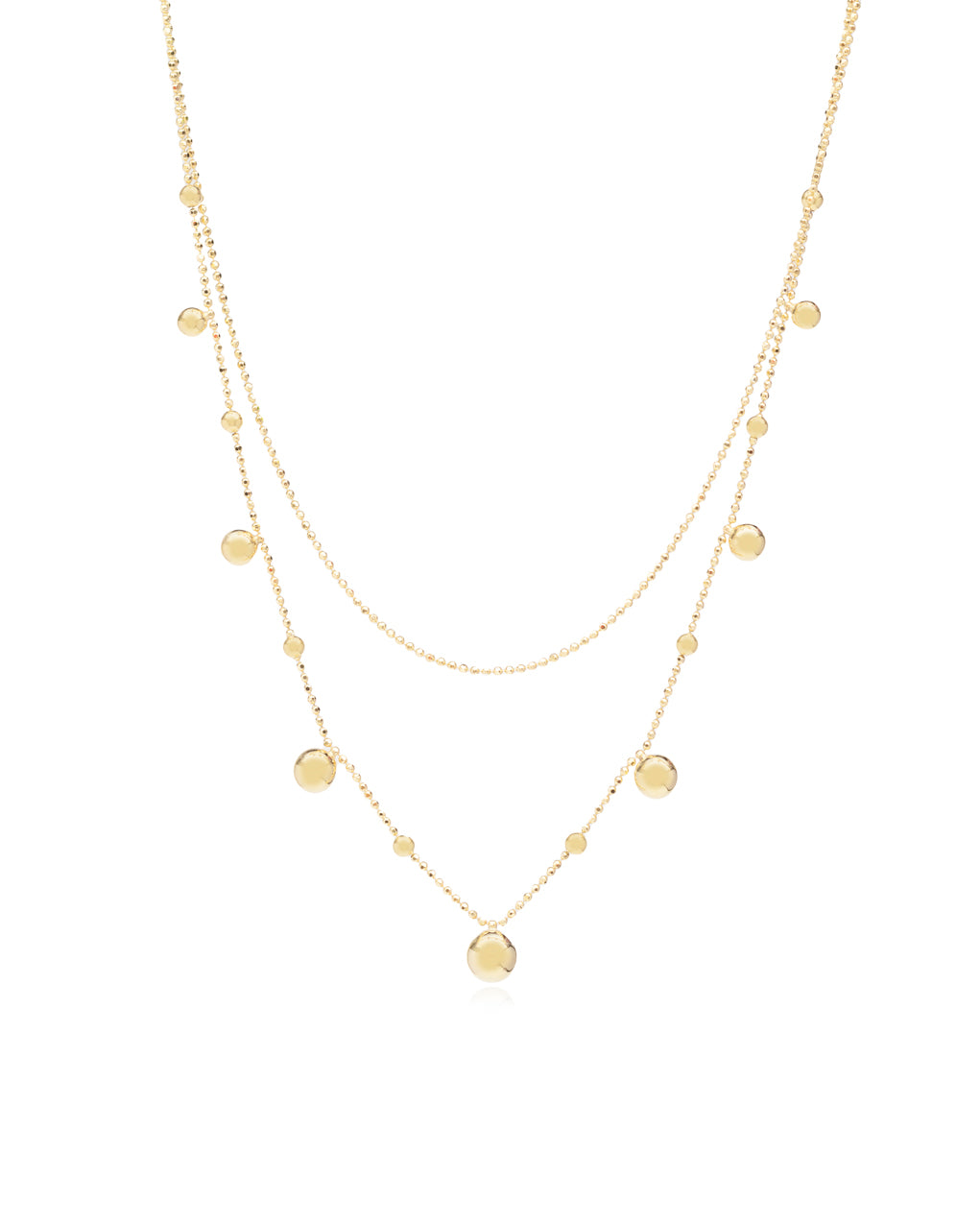 Droplet Dainty layer Necklace
