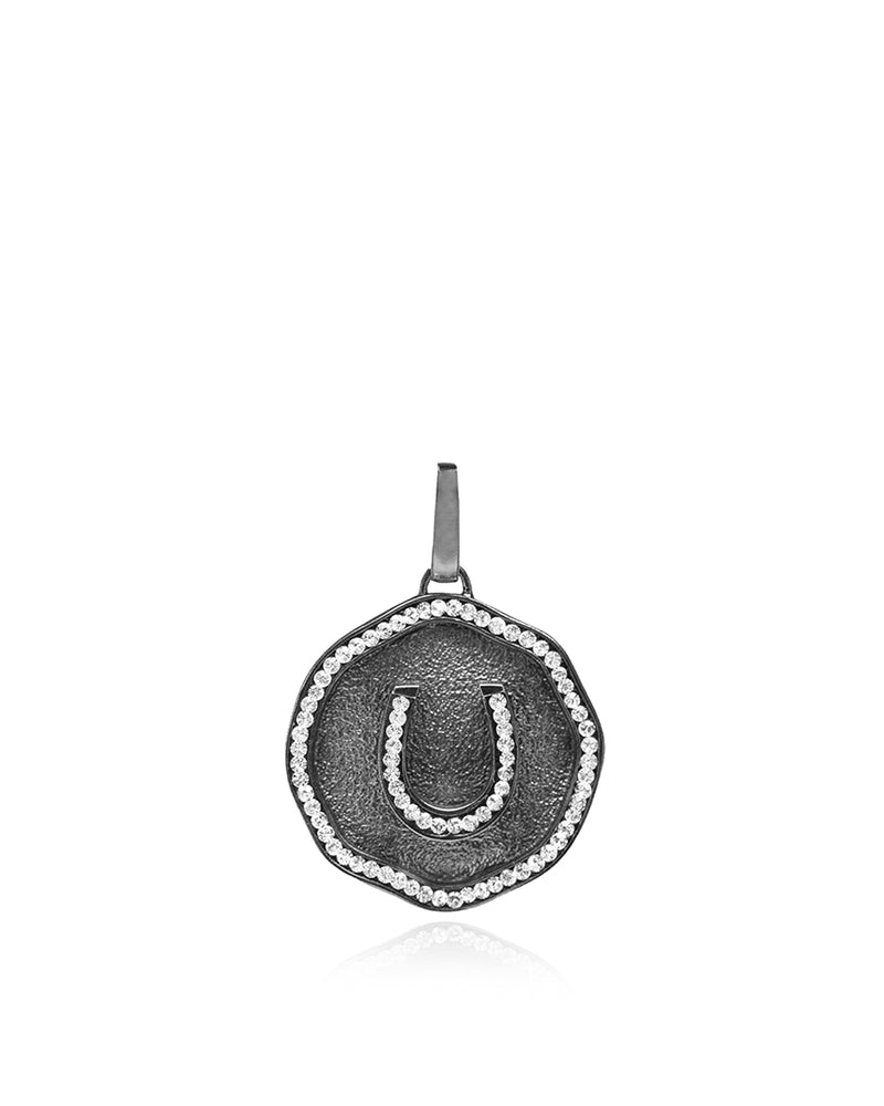 Lucky Derby Horseshoe Medallion Charm