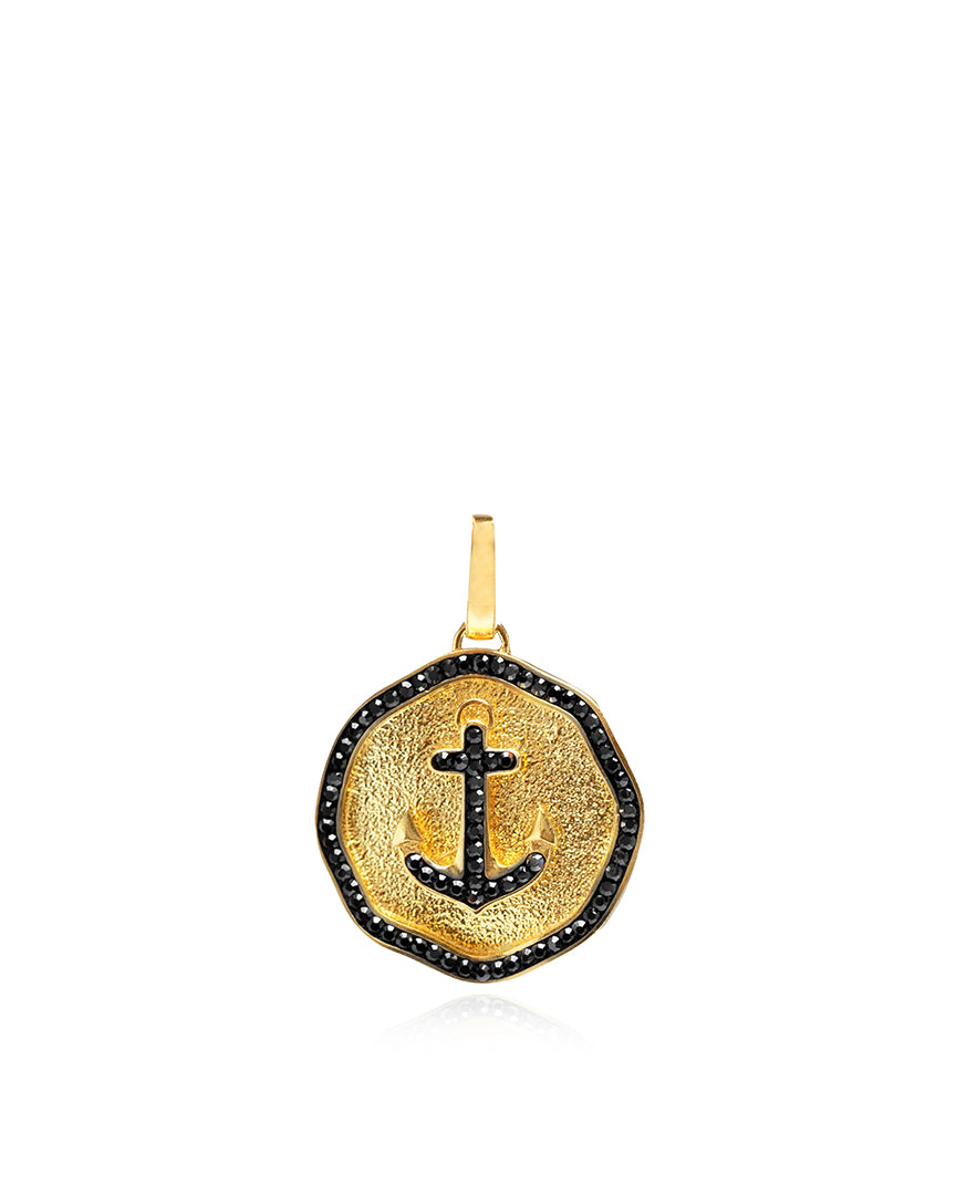 Bon Voyage Anchor Medallion Charm
