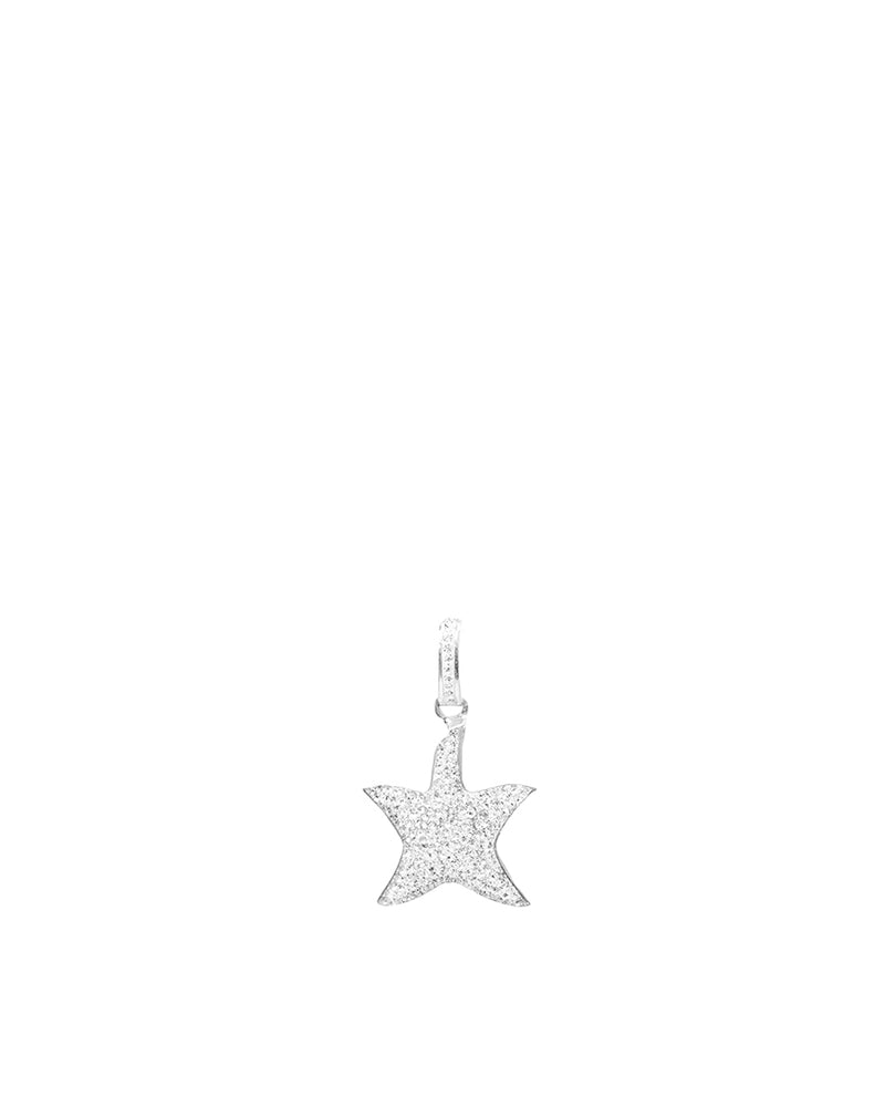 Statement Starfish Crystal Bail Charm