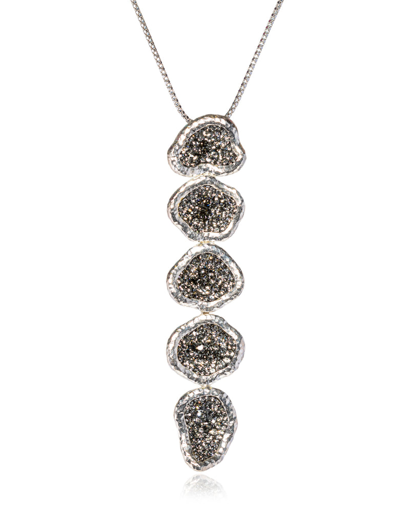 2Way 5tier Geode Cascade Black Diamond Silver