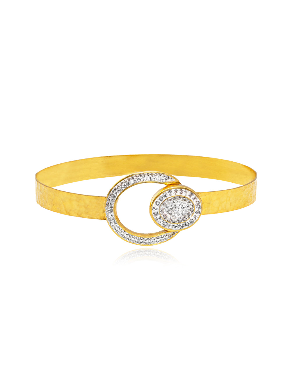 Oval Crystal Bangle Bracelet