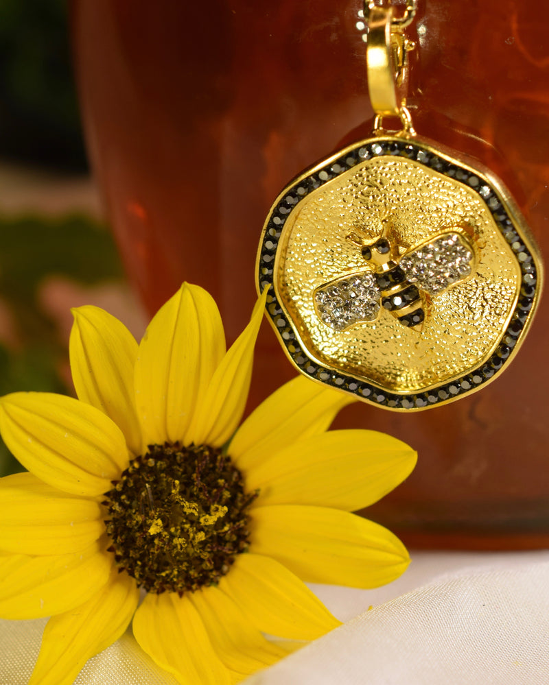 BEEutiful Bee Medallion Charm Necklace