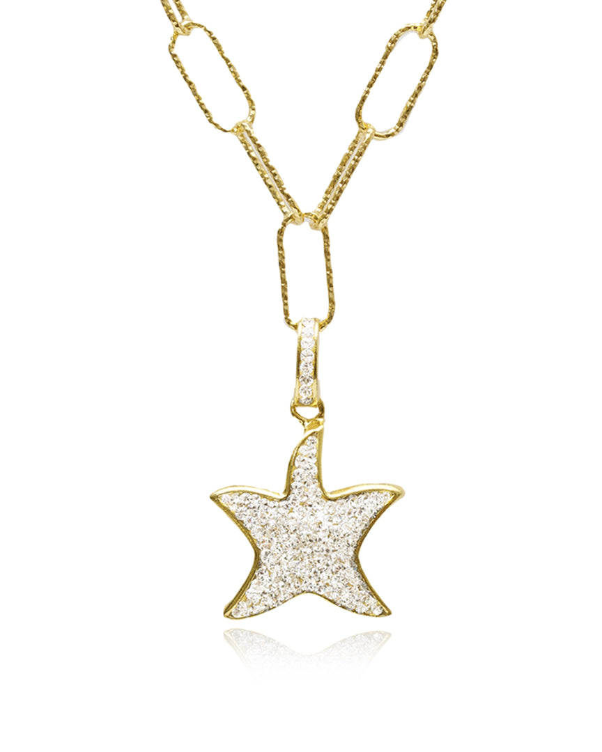 Grand Starfish Charm Necklace