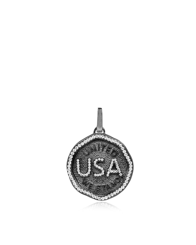 USA Medallion Charm
