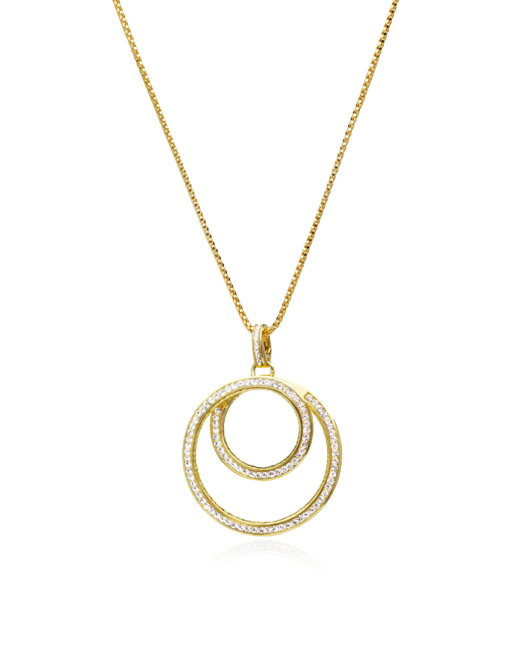 Eternity Swirl Charm Pendant Necklace